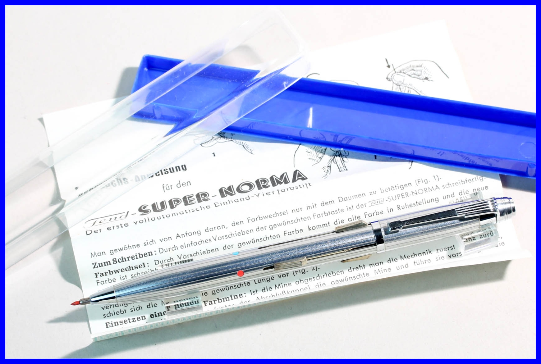 Der perfekte VIER FARBEN Bleistift FEND SUPER NORMA  versilbert für 1,18 Minen